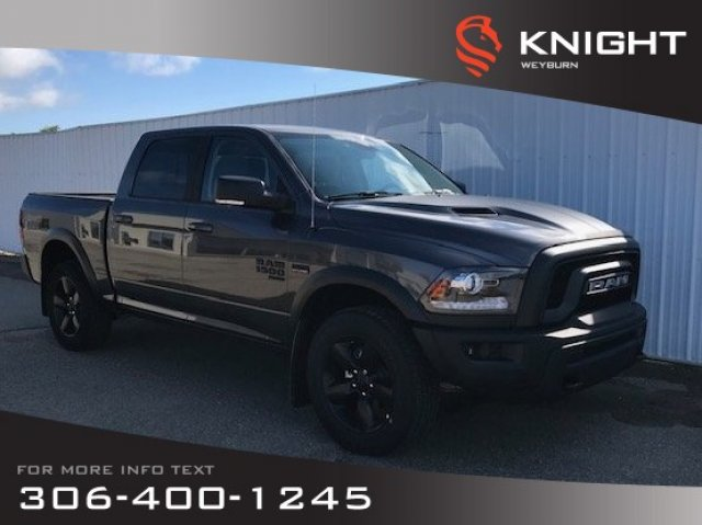 New 2019 Ram 1500 Classic Warlock Crew Cab 4x4 HEMI | Heated Seats & Steering Wheel | NAV | Back-up Camera