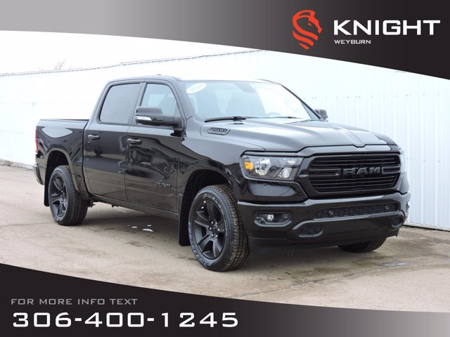 New 2020 Ram 1500 Big Horn Crew Cab 4X4 HEMI | Night Edition | Heated Seats & Steering Wheel | Back-up Camera