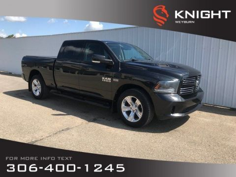 Pre-Owned 2015 Ram 1500 Sport | Bluetooth | Heated & Ventilated Seats | Heated Steering Wheel