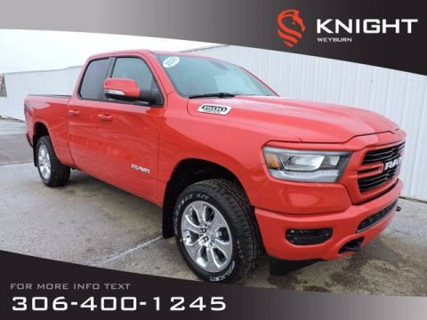 New 2020 Ram 1500 Big Horn Sport Quad Cab 4x4 HEMI | Heated Front Seats & Steering Wheel | Remote Start | Back-Up Cam