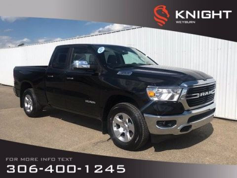 New 2019 Ram 1500 Big Horn Quad Cab 4x4 HEMI | Back-up Camera | Bluetooth | Power Folding Mirrors | Keyless Push Start